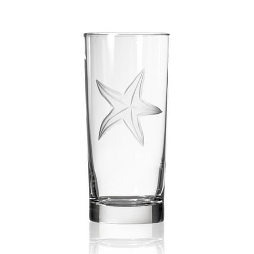 Starfish Etched Cooler Glasses - Set of 4 single image