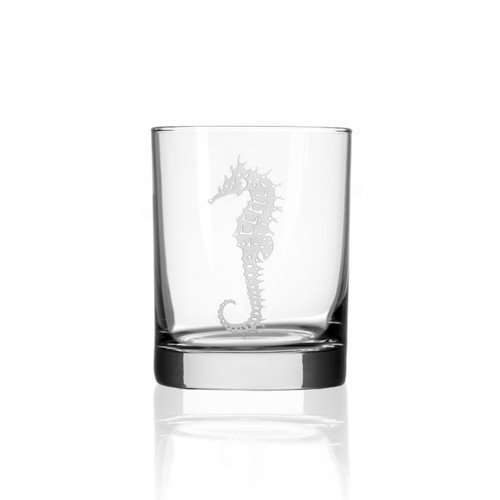 Seahorse Double Old Fashioned Glasses - single image