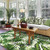 Palm Rain Forest Rug room view