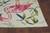 Tropical Pink Flamingo Hand-Hooked Rug corner close up