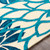 By the Sea Blue Blooms Hand-Hooked Area Rug edge