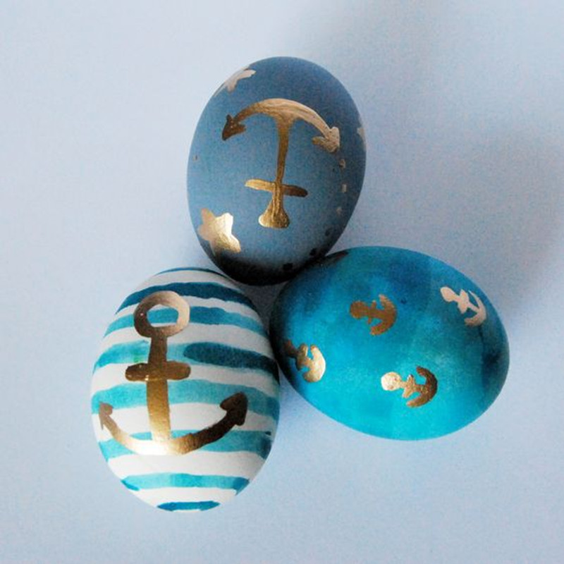 Beachy Fun Easter Eggs - 10 Ideas to Try!