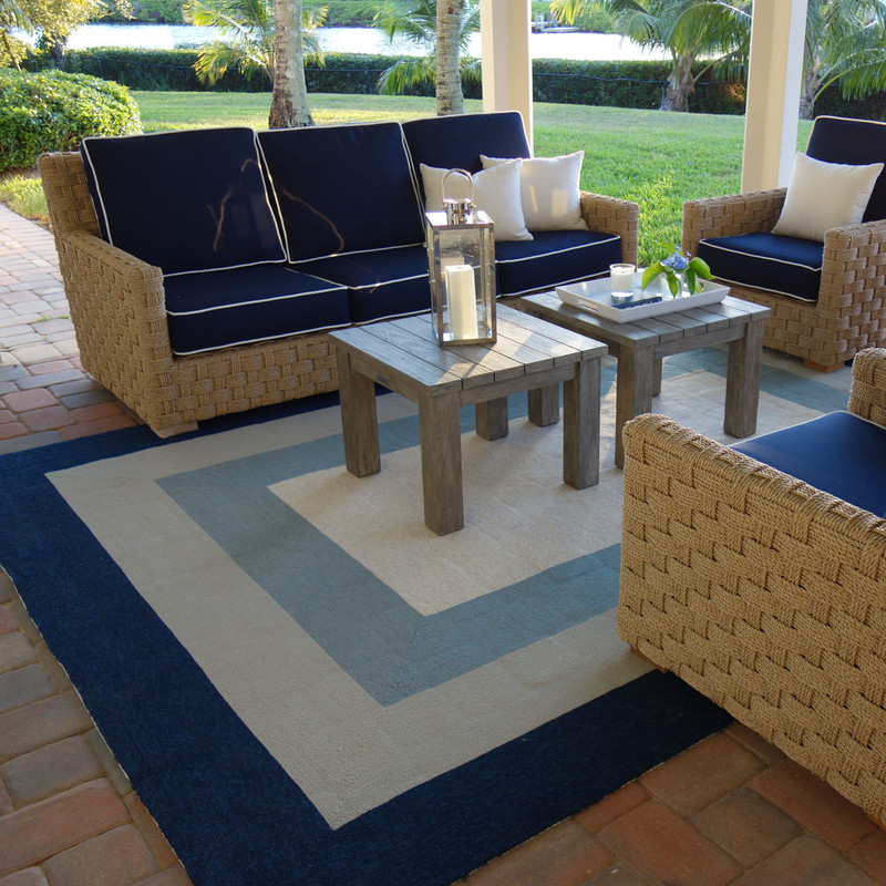 Outdoor Coastal Rugs - How to Choose The Right Size