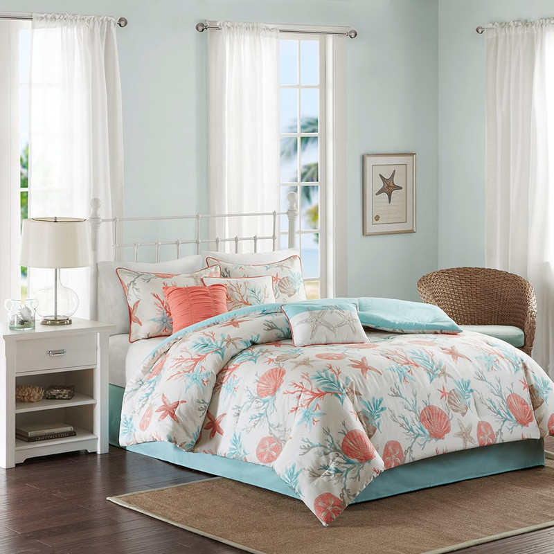 Coral-Orange + Turquoise: 10 Coastal Room Ideas for ...