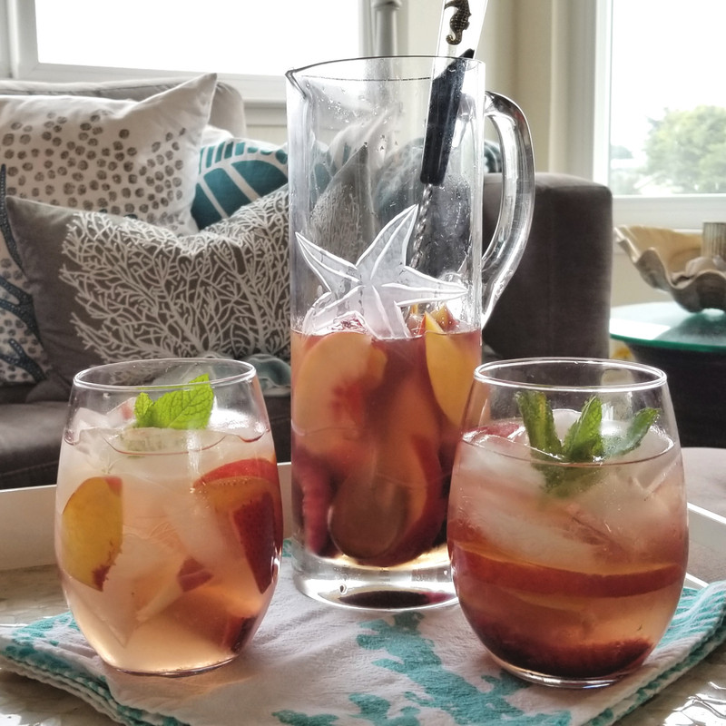 Summer Cocktails - Nectarine and Plum Sangria