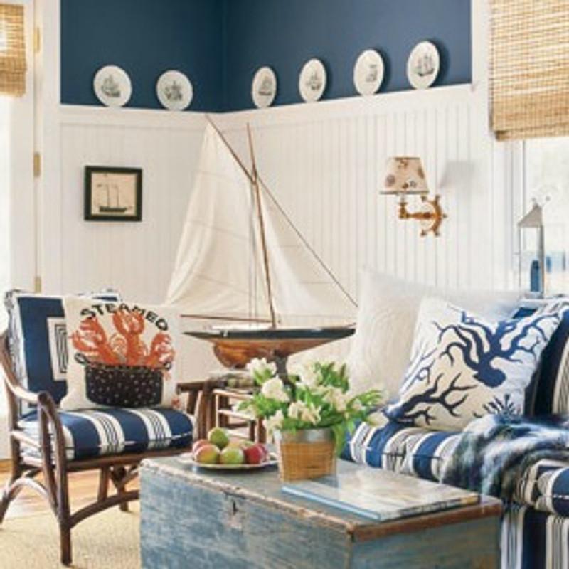 Navy Blue Nantucket Dreams - Caron's Beach House Nantucket Bedroom Decorating Ideas on nantucket nautical symbols on houses, nantucket harbor wall art, nantucket bedroom design,