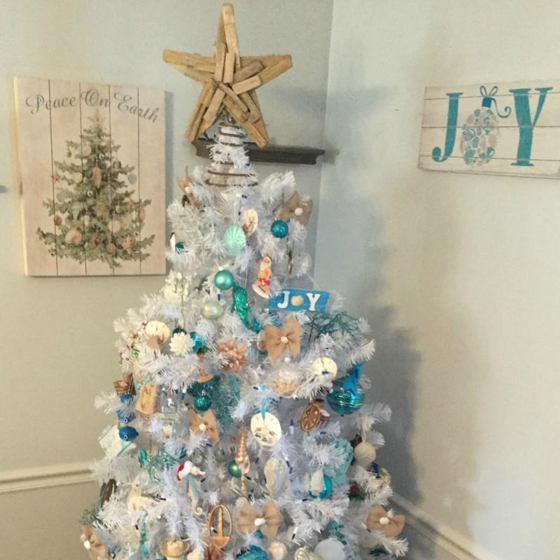 Christmas Tree Facebook Cover Photo: Winning Coastal Christmas Tree!
