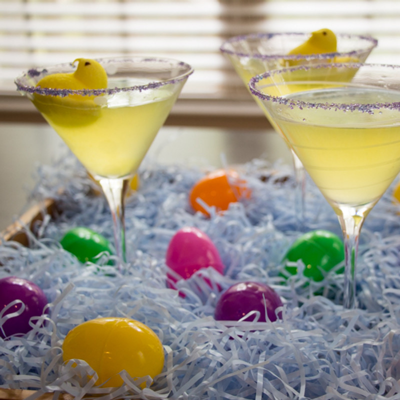 Easter Peeps for Brunch Cocktails