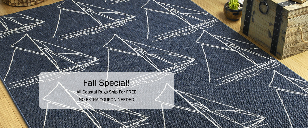 All Coastal Rugs Ship For FREE