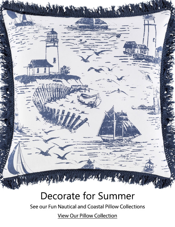 Coastal and Nautical Decorative Throw Pillows