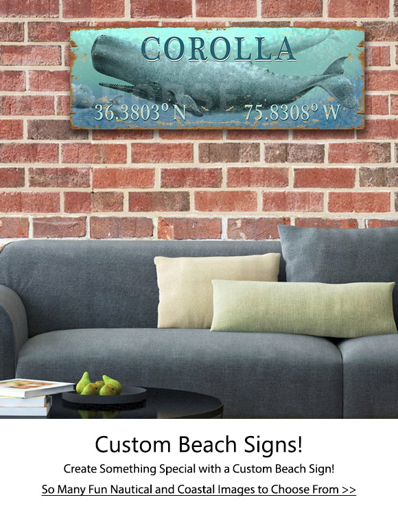 Custom Beach Sign