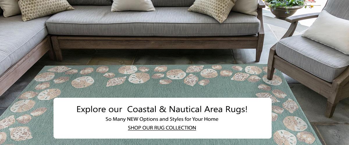 Coastal and Nautical Area Rugs