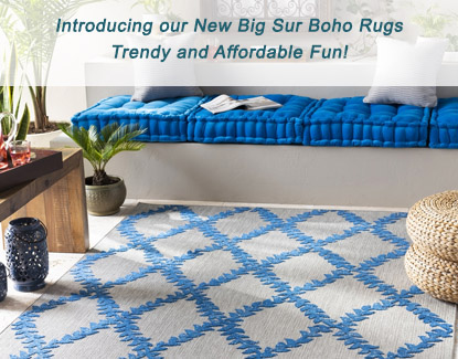 Introducing our New Big Sur Boho Rugss