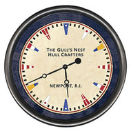 Maritime Signal Flags Custom Wall Clock
