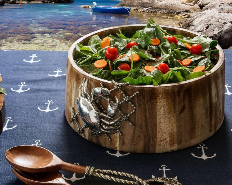 Image of Crab in Net Large Salad Bowl