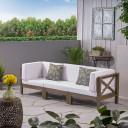 Acacia Outdoor Sectional Sofa Set 3-Seater
