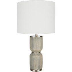 Wells Brushed Metal Base Table Lamp-002