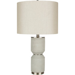 Wells Brushed Metal Base Table Lamp-001