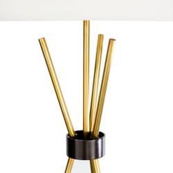 Nathan Antiqued Metal Body Table Lamp-001