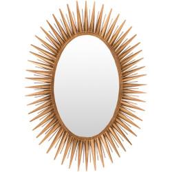 Nihal Gold Metal Frame Mirror