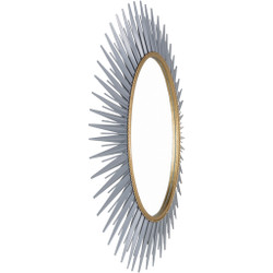 Nihal Matte Beveled Substrate Frame Mirror