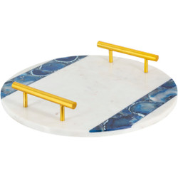 Cerulean 100% Marble Decorative Tray