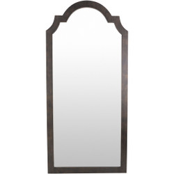 Oriel 35 X 2 inch Bronzed Arch/Crowned Top Mirror