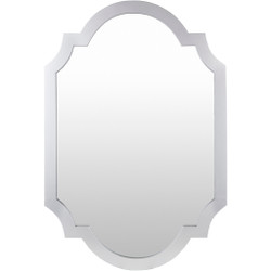Norway 35 X 2 inch Silver Finish Arch/Crowned Top Mirror