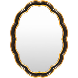 Milburn Oval Polystyrene Gold-Framed Mirror