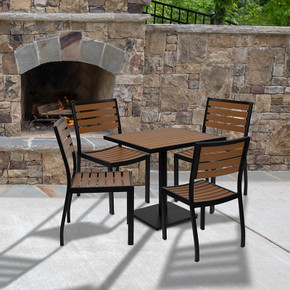 Outdoor Patio Bistro Dining Table Set