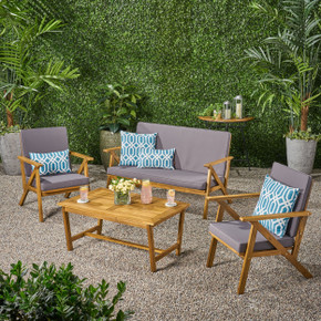 Panama Outdoor 4-piece Wood Chat Set