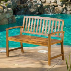 Brown  Acacia Outdoor Bench