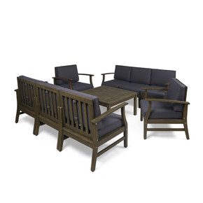Grey Acacia 9-piece Outdoor Sofa Set