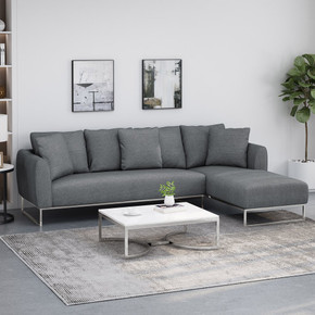 Clarke Modern Sectional Sofa with Chaise Lounge