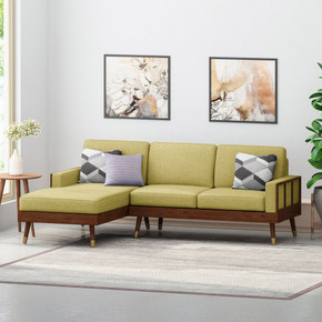 Mid Century Modern 3 Seater Sectional Sofa & Chaise