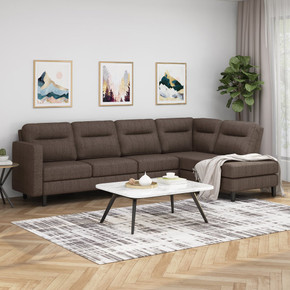 Artorias Modern Fabric Upholstered 4 Seater Sectional Sofa with Chaise Lounge