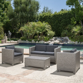 4pc Outdoor Wicker Sofa Set