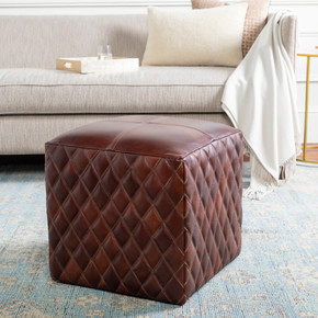 Leonardo Black/Dark Brown Pouf