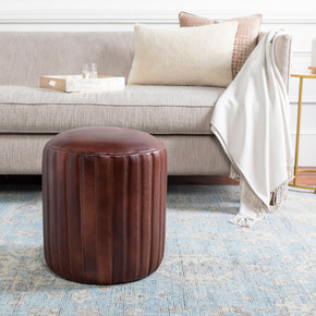 Langdon Black/Dark Brown Pouf