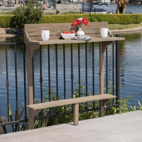 Outdoor Acacia Wood Balcony Bar Table
