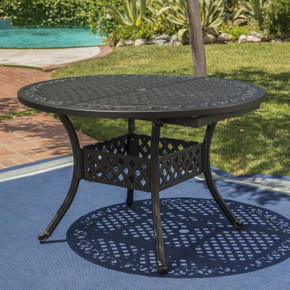 Outdoor Expandable Aluminum Dining Table