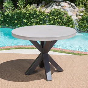 Outdoor Modern Lightweight Concrete Dining Table
