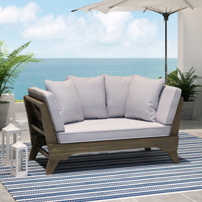Outdoor Acacia Wood Expandable Daybed