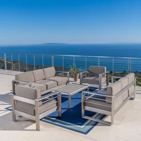 Outdoor Aluminum 5-Piece Sofa Set