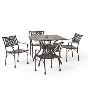 Outdoor Aluminum 5 Piece Dining Set