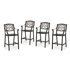 "Outdoor 28"" Aluminum Barstool (Set of 4)"