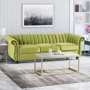 Modern Glam Velvet Sofa