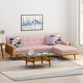 Modern Fabric Chaise Sectional