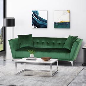 Button Tufted Velvet Sofa
