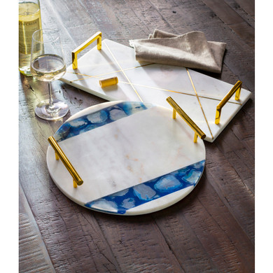 Luxe 100% Marble Decorative Tray